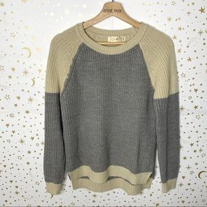 RD Style | Color Block Ribbed Raglan Sweater Small
